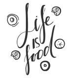 La vie est nourriture Photographie stock