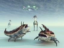 La vie extraterrestre illustration stock
