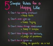 La vie heureuse Image libre de droits