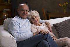 La vie heureuse ensemble dans la vieillesse Images libres de droits