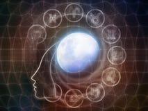 La vie intérieure de la lune Image libre de droits