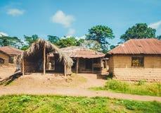 La vie pauvre des personnes libériennes Le Libéria, Afrique de l'ouest images libres de droits