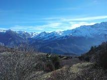 La vie rurale de campagne de Pyrénées de montagne de nature Photos stock