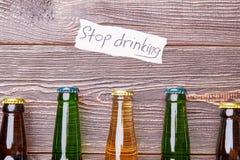 La vie sans boire d'alcool Images libres de droits