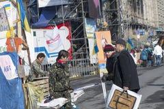 La vie sur le Maidan Photographie stock