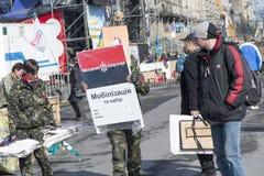 La vie sur le Maidan Images libres de droits
