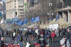 La vie sur le Maidan Photo libre de droits