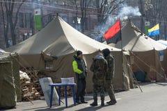 La vie sur le Maidan Images stock