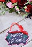 La vie toujours avec bonnes fêtes le signe Photo stock