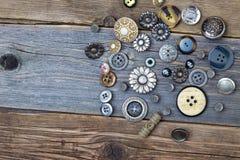 La vie toujours avec des boutons de vintage Image libre de droits