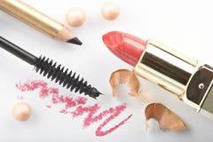 La vie toujours avec des cosmétiques photographie stock libre de droits