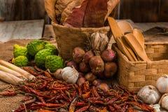 La vie toujours avec l'épice thaïlandaise Image libre de droits