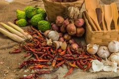 La vie toujours avec les épices thaïlandaises Photo stock