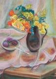 Fleurs dans une cruche Illustration de Vecteur