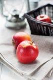 La vie toujours avec les pommes rouges Image stock