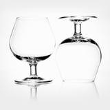 La vie toujours avec les verres vides Images libres de droits