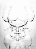 La vie toujours avec les verres vides Photographie stock
