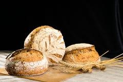 La vie toujours avec un esprit rond traditionnel de pains de pain de seigle d'artisan Image stock