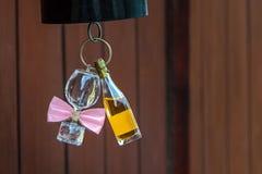 La vie toujours - bouteille de vin et de verre de vin Photographie stock libre de droits