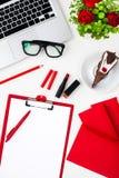 La vie toujours de la femme de mode, objets sur le blanc Photographie stock