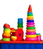 La vie toujours des jouets multicolores images stock
