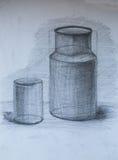 La vie toujours, dessin au crayon Image stock