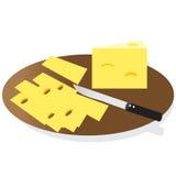 La vie toujours, fromage illustration de vecteur