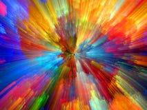 La vie virtuelle de couleur Images libres de droits