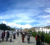 La vie vivante de Lhasa photo libre de droits
