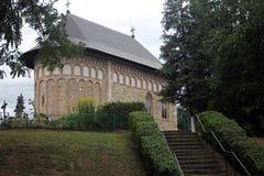 La vieille église dans Borzesti a construit par Sf Jument de Åžtefan cel images stock