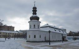 La vieille église de réfectoire de St John le divin du dôme de Kiev-Mikhailovsky Photographie stock libre de droits