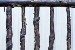 La vieille barrière en bois photo stock