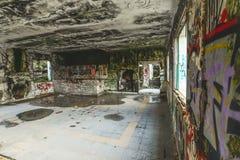 La vieille base militaire - Baiona image libre de droits