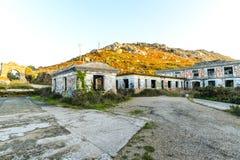 La vieille base militaire - Baiona photographie stock