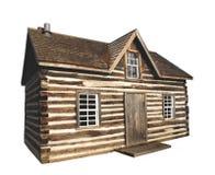 La vieille cabine de logarithme naturel a isolé Photographie stock