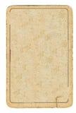 La vieille carte jouante a employé le fond de papier avec une ligne Image libre de droits