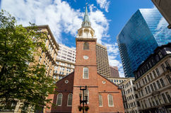 La vieille Chambre de contact du sud à Boston images libres de droits