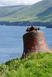 La vieille cloche de village sur la grande île de Blasket Photo libre de droits