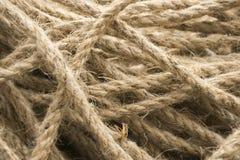 La vieille corde ficelle la structure de fond Modèle approximatif de corde Photo libre de droits