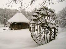 la vieille eau de moulin contry de maison wodden Photo stock