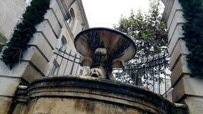 La vieille fontaine ? Matera avec de l'eau tombant vers le bas et les baisses rebondissent, monument historique et banque de vidéos