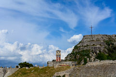 La vieille forteresse, Corfou, Grèce Photographie stock libre de droits