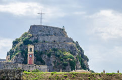 La vieille forteresse de Corfou Photo stock
