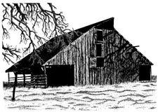 La vieille grange de Roberts Photo libre de droits