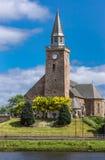 La vieille haute église le long de la rue de banque à Inverness Photographie stock