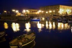 La vieille Italie classique, nuit à Syracuse, Sicile Photos stock