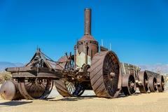La vieille locomotive à vapeur dans le désert, Death Valley photographie stock