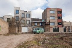 La vieille maison de rapport en Iran Photos libres de droits