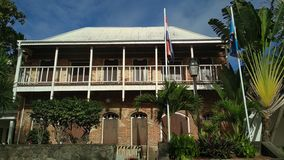 La vieille maison des Caraïbes photo libre de droits
