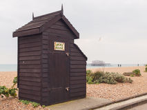 Fumoir traditionnel, plage de Brighton Image libre de droits